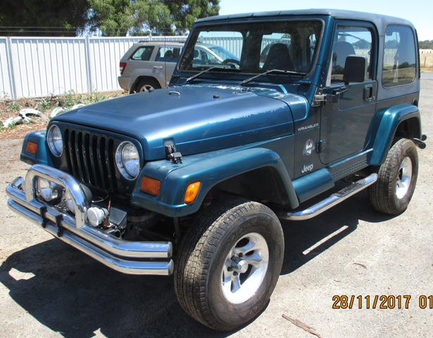 I.E. V (Vehicle For Dismantling) B (2010 2020) A (2001 2010) 0007 (seventh  Vehicle Into Stock In The Year 2000.) VB8026 1996 Jeep Wrangler ...